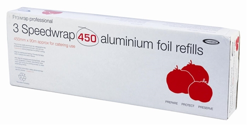 Speedwrap Aluminium Foil Refill Roll 450mm x 90m (3 Pack)