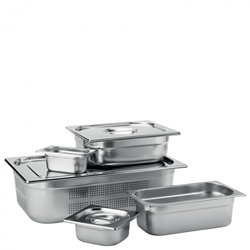 Stainless Steel GN 1/1 Handled Lid (6 Pack)