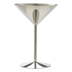 Stainless Steel Martini Glass 24cl/8.5oz (Each) Stainless, Steel, Martini, Glass, 24cl/8.5oz, Nevilles