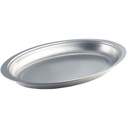 Stainless Steel Oval Banqueting Dish 20 (Each) Stainless, Steel, Oval, Banqueting, Dish, 20, Nevilles
