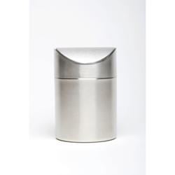 Stainless Steel Table Bin 16.5cm high x 11.5cm dia (Each) Stainless, Steel, Table, Bin, 16.5cm, high, 11.5cm, dia, Nevilles
