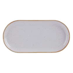 "Stone Narrow Oval Plate 32 x 20cm / 12  1/2"" x 8"" (Pack of 6)"