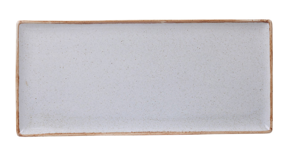 Stone Rectangular Plate 35 x 15.5cm / 13  3/4? x 6? (Pack of 6)