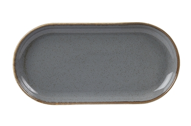 "Storm Narrow Oval Plate 32 x 20cm / 12  1/2"" x 8"" (Pack of 6)"