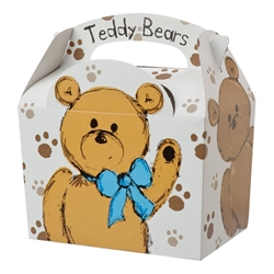 Teddy Bears paperboard box with handle