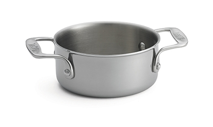 "Tri-Ply 16oz. Sauce Pan with Handles, 5.125"" dia x 2.25"""