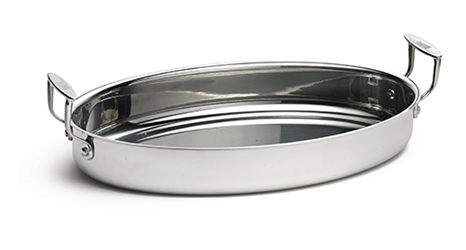 Tri-Ply 24oz. Oval Server with Handles, 9 x 7 x 2""