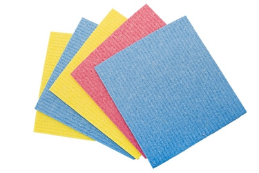 V Sponge Cloth - Blue (5 Pack) sponge cloth absorbant coloured