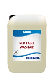 WASHAID RED LABEL   10L Washaid, Red, Label, Cleenol
