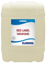 WASHAID RED LABEL   20L Washaid, Red, Label, Cleenol