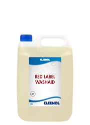 WASHAID RED LABEL 5L Washaid, Red, Label, Cleenol