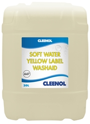 WASHAID SOFT WATER YELLOW LABEL 20L Washaid, Soft, Water, Yellow, Label, Cleenol
