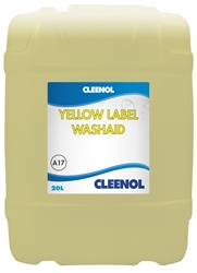 WASHAID YELLOW LABEL  20L Washaid, Yellow, Label, Cleenol