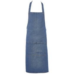 Washed Denim Bib Apron 70 x 90cm (Each) Washed, Denim, Bib, Apron, 70, 90cm, Nevilles