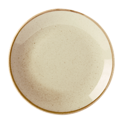 "Wheat Coupe Plate 28cm/11"" (Pack of 6)"