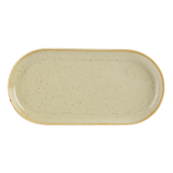 "Wheat Narrow Oval Plate 32 x 20cm / 12  1/2"" x 8"" (Pack of 6)"