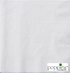 White 33cm 2ply Napkins (2000 Pack)