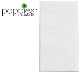 White Pre-Folded 3 Ply 40cm Napkins (1000 Pack)