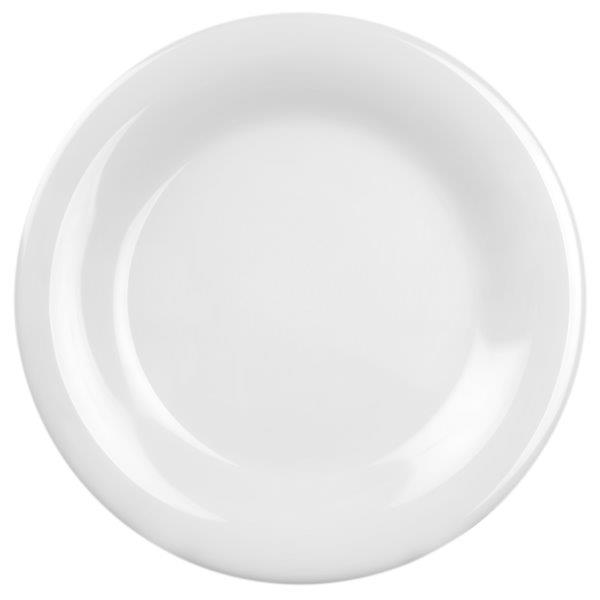Wide Rim Plate 9 1/4? / 235mm, White (12 Pack)
