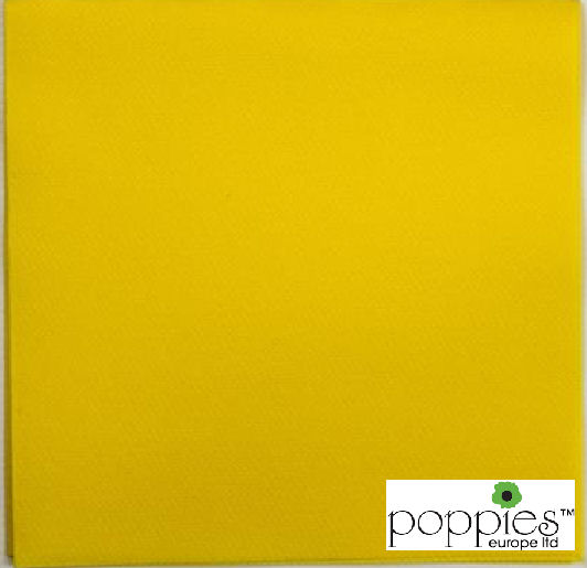 Yellow 2 Ply 40cm Napkins (2000 Pack)