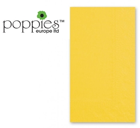 Yellow Pre-Folded 3 Ply 40cm Napkins (1000 Pack)