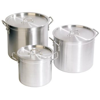Zsp Aluminium Stockpot With Lid 8 Ltr