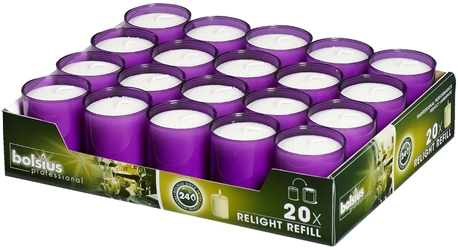 bolsius Relight® Refills Purple (20 Pack) Bolsius, Relight, Refills, Purple, bolsius