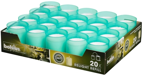bolsius Relight® Refills Sea Green (20 Pack) Bolsius, Relight, Refills, Sea, Green, bolsius