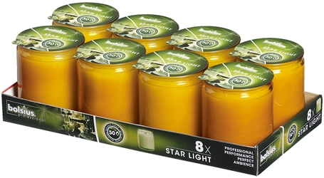 bolsius Starlight® Candle Refill Amber (8 Pack) Bolsius, Starlight, Candle, Refill, Amber, bolsius