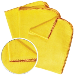 Large Size IDS Quality Yellow Duster (10 Pack)