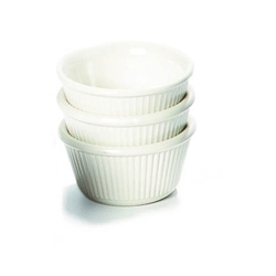 Ramekin Fluted 1oz White 57 x 25mm (48 Pack) Ramekin, Fluted, 1oz, White, 57, 25mm, Nevilles