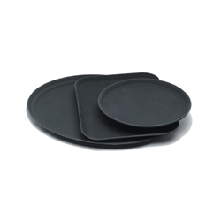 Tray Gengrip Fibreglass Round 11 Black (Each) Tray, Gengrip, Fibreglass, Round, 11, Black, Nevilles