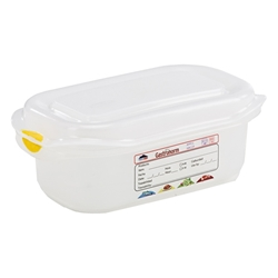 GN Storage Container 1/9 65mm Deep 0.6L (12 Pack) GN, Storage, Container, 1/9, 65mm, Deep, 0.6L, Nevilles