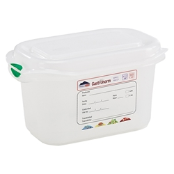GN Storage Container 1/9 100mm Deep 1L (12 Pack) GN, Storage, Container, 1/9, 100mm, Deep, 1L, Nevilles