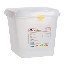 GN Storage Container 1/6 150mm Deep 2.6L (12 Pack) GN, Storage, Container, 1/6, 150mm, Deep, 2.6L, Nevilles
