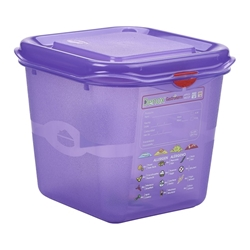 Allergen GN Storage Container 1/6 150mm Deep 2.6L (6 Pack) Allergen, GN, Storage, Container, 1/6, 150mm, Deep, 2.6L, Nevilles