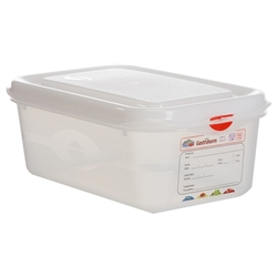 GN Storage Container 1/4 100mm Deep 2.8L (6 Pack) GN, Storage, Container, 1/4, 100mm, Deep, 2.8L, Nevilles