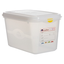GN Storage Container 1/4 150mm Deep 4.3L (6 Pack) GN, Storage, Container, 1/4, 150mm, Deep, 4.3L, Nevilles