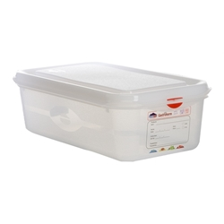 GN Storage Container 1/3 100mm Deep 4L (6 Pack) GN, Storage, Container, 1/3, 100mm, Deep, 4L, Nevilles