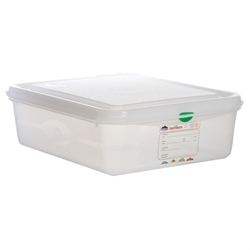 GN Storage Container 1/2 100mm Deep 6.5L (6 Pack) GN, Storage, Container, 1/2, 100mm, Deep, 6.5L, Nevilles