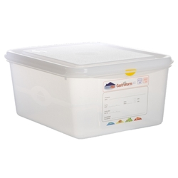 GN Storage Container 1/2 150mm Deep 10L (6 Pack) GN, Storage, Container, 1/2, 150mm, Deep, 10L, Nevilles