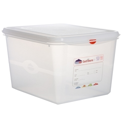 GN Storage Container 1/2 200mm Deep 12.5L (6 Pack) GN, Storage, Container, 1/2, 200mm, Deep, 12.5L, Nevilles