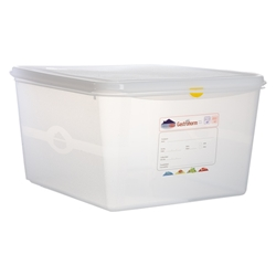 GN Storage Container 2/3 200mm Deep 19L (6 Pack) GN, Storage, Container, 2/3, 200mm, Deep, 19L, Nevilles