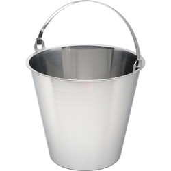 Swedish Stainless Steel Bucket 10 Litre Graduated (Each) Swedish, Stainless, Steel, Bucket, 10, Litre, Graduated, Nevilles