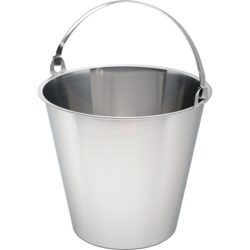 Swedish Stainless Steel Bucket 15 Litre Graduated (Each) Swedish, Stainless, Steel, Bucket, 15, Litre, Graduated, Nevilles