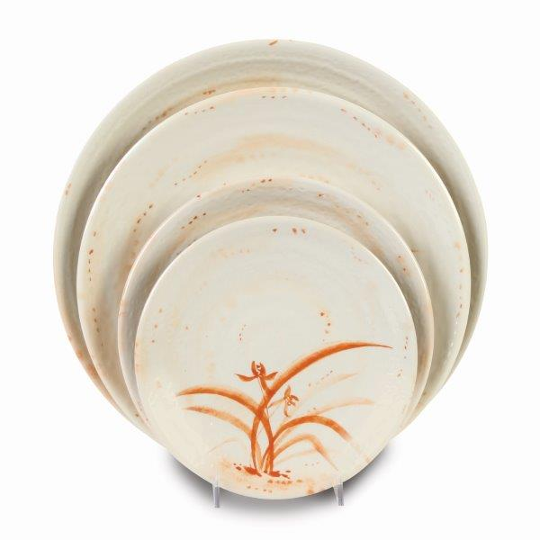 10 1/2? / 265mm Plate, Gold Orchid (12 Pack)