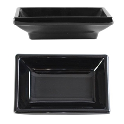 2 oz, 3 3/4in X 2 1/2in / 95mm X 65mm Sauce Dish, Classic Black (12 Pack)