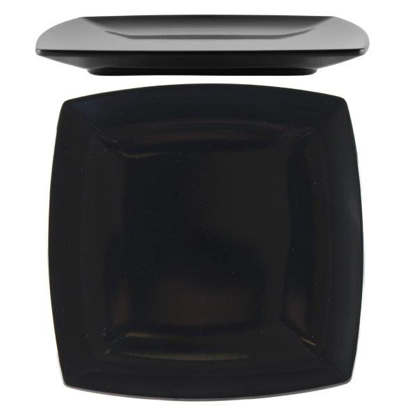 "10"" / 254mm Square Plate / 25mm Deep, Classic Black"