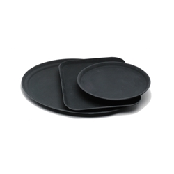 Tray Gengrip Fibreglass Oval 31 Black (Each) Tray, Gengrip, Fibreglass, Oval, 31, Black, Nevilles