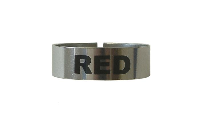 St/Steel Large Thimble I.D. Clip - Red (Each) St, Steel, Large, Thimble, I.D., Clip, Red, Beaumont